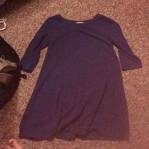 Navy soft short dress